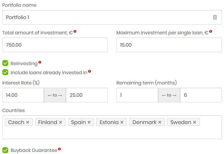 Outil investissement automatique LenderMarket
