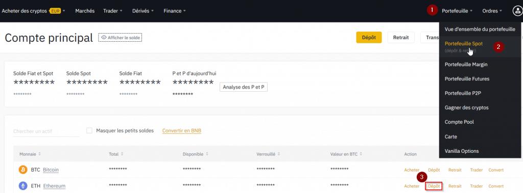 Minage de cryptomonnaie - Accéder à votre adresse Ethereum