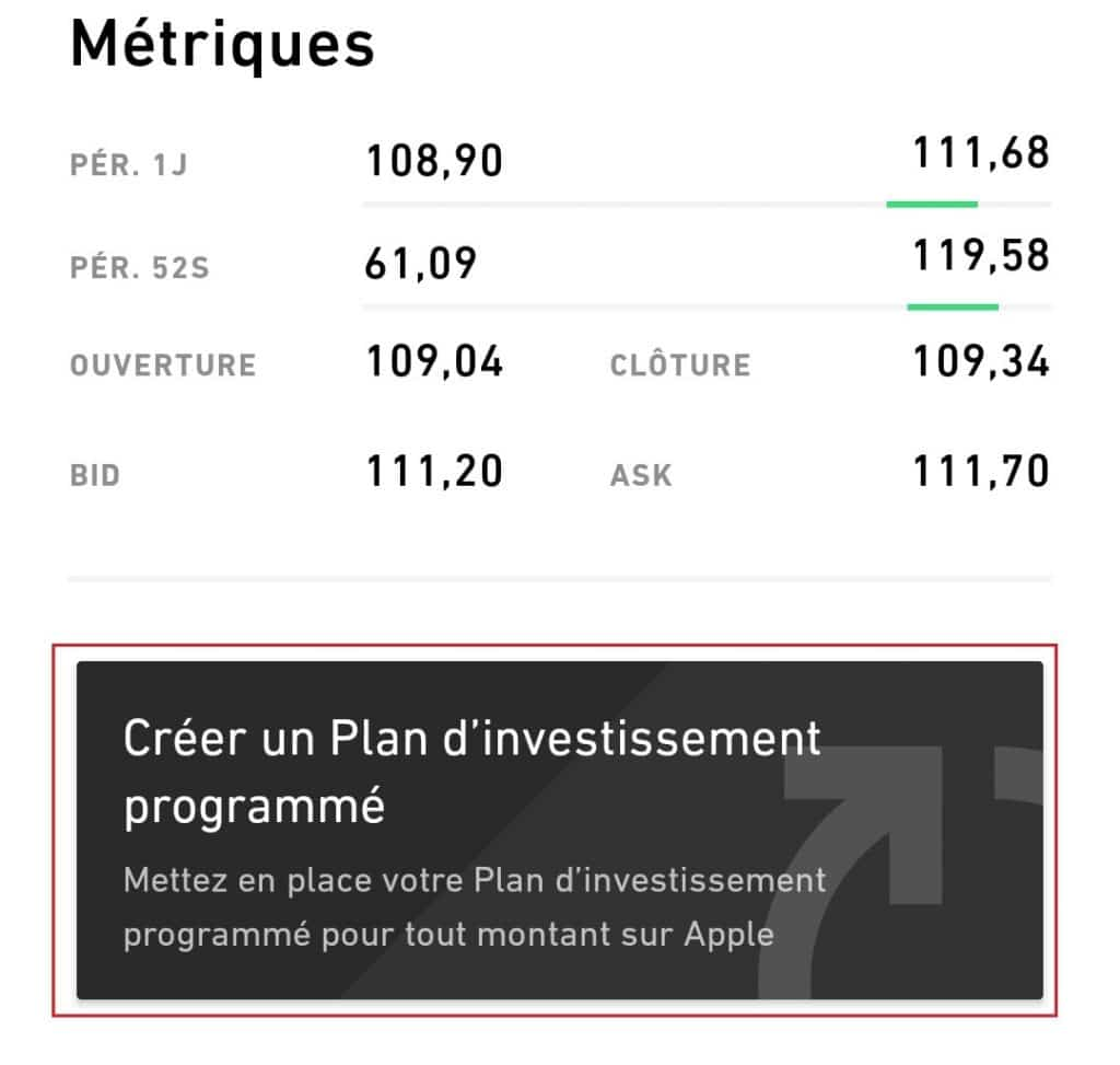 Trade Republic - Créer plan d'investissement programmé